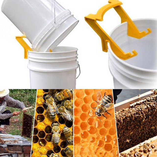 Plastic Bee Honey Holder Honey Bucket Rack Grip Frame Beekeeping Tool Equipment