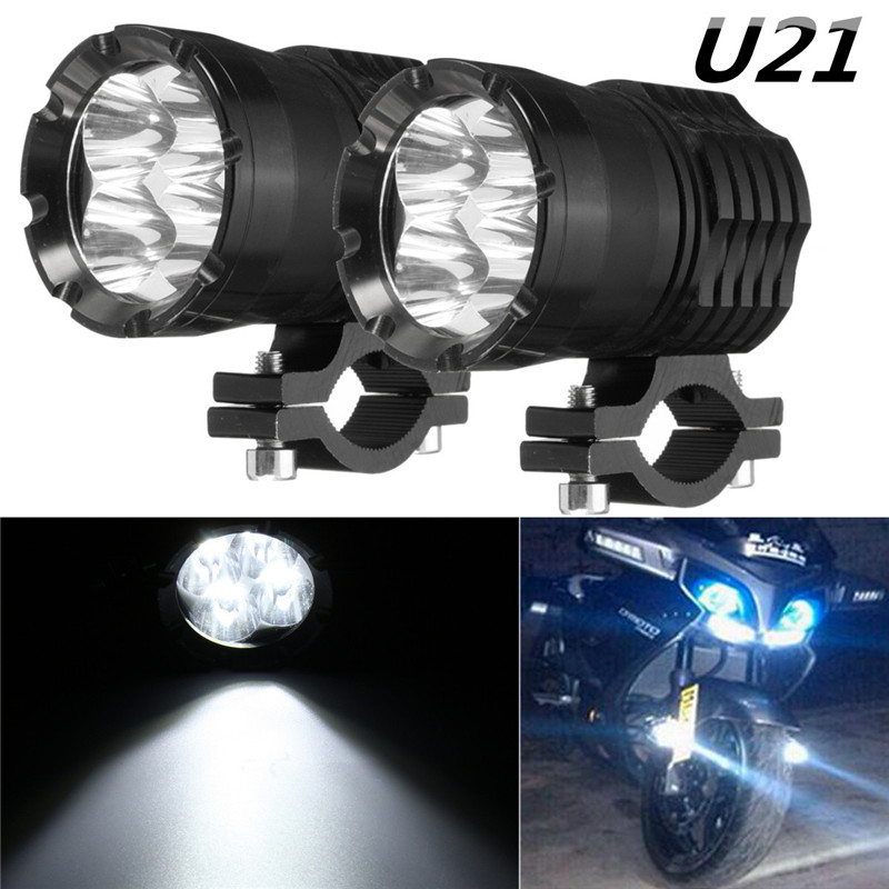 2Pcs 40W U21 Driving Fog Head Light LED Headlight Work Spot Driving Light Fog Driving Head Lamp For BMW Motorcycle SUV ATV UTV