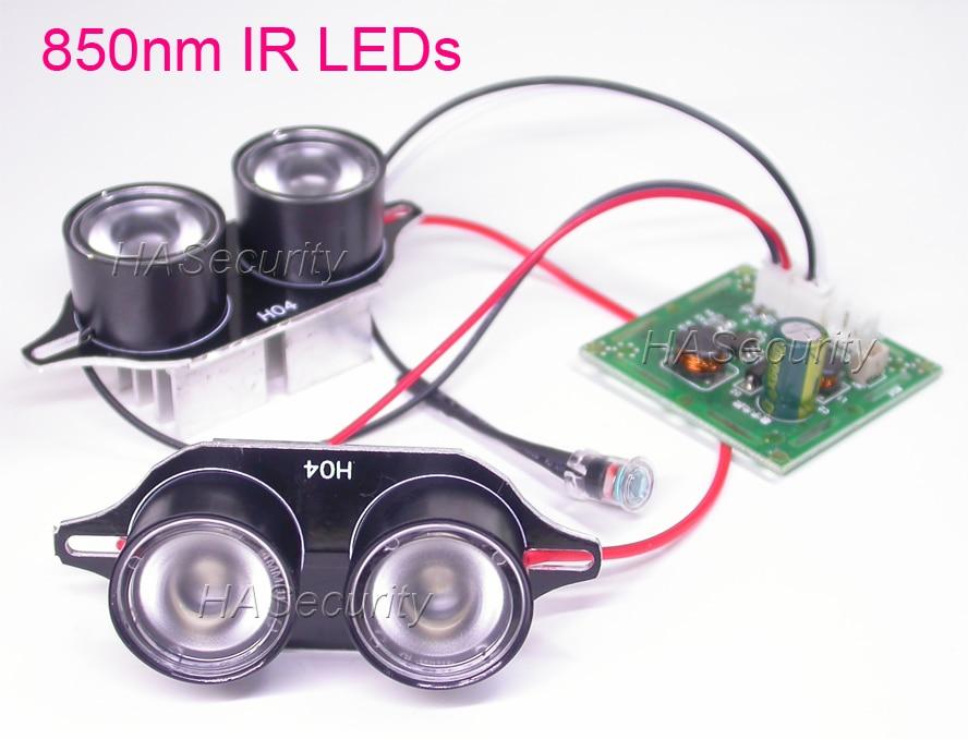 Spot Lumière Infrarouge 4x IR LED conseil pour CCTV caméras de vision nocturne
