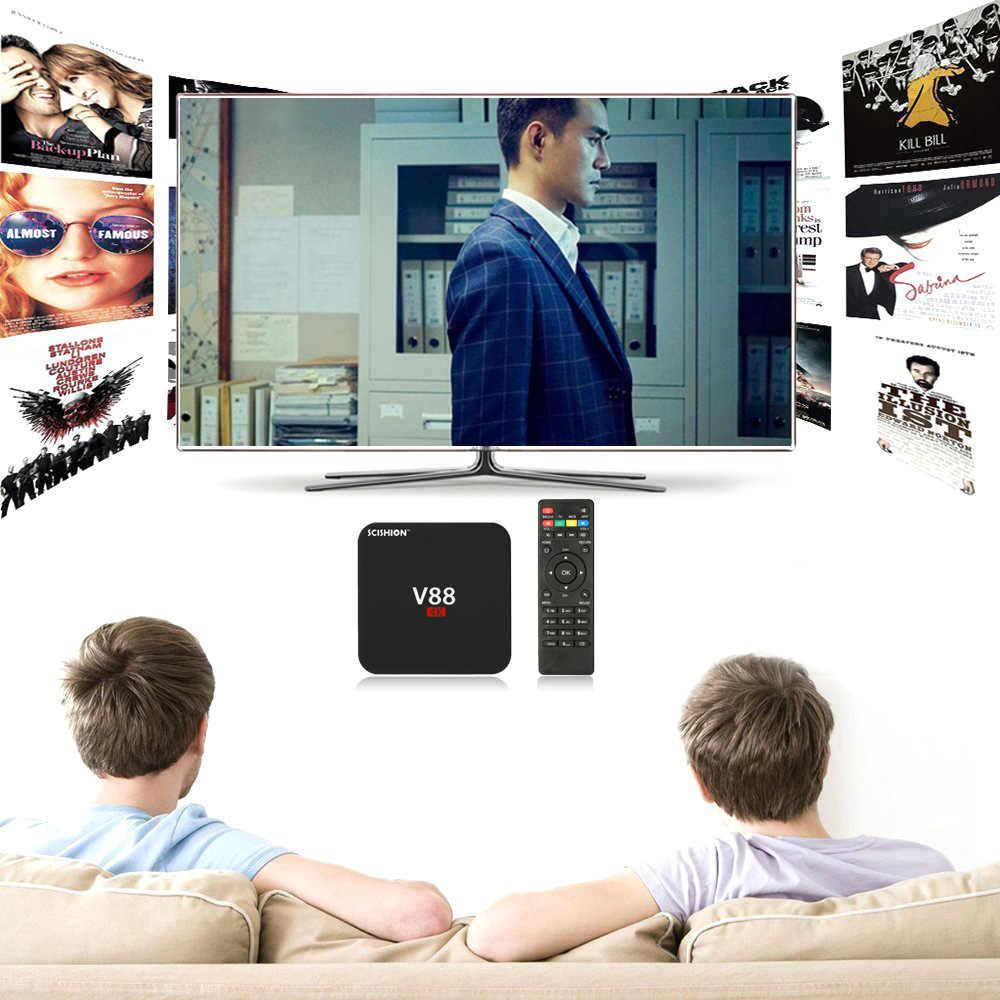 SCISHION V88 Astuto di Android 7.1 TV Box RK3229 Quad Core UHD 4K 1G / 8G Mini PC wiFi H.265 HD Set-Top Box