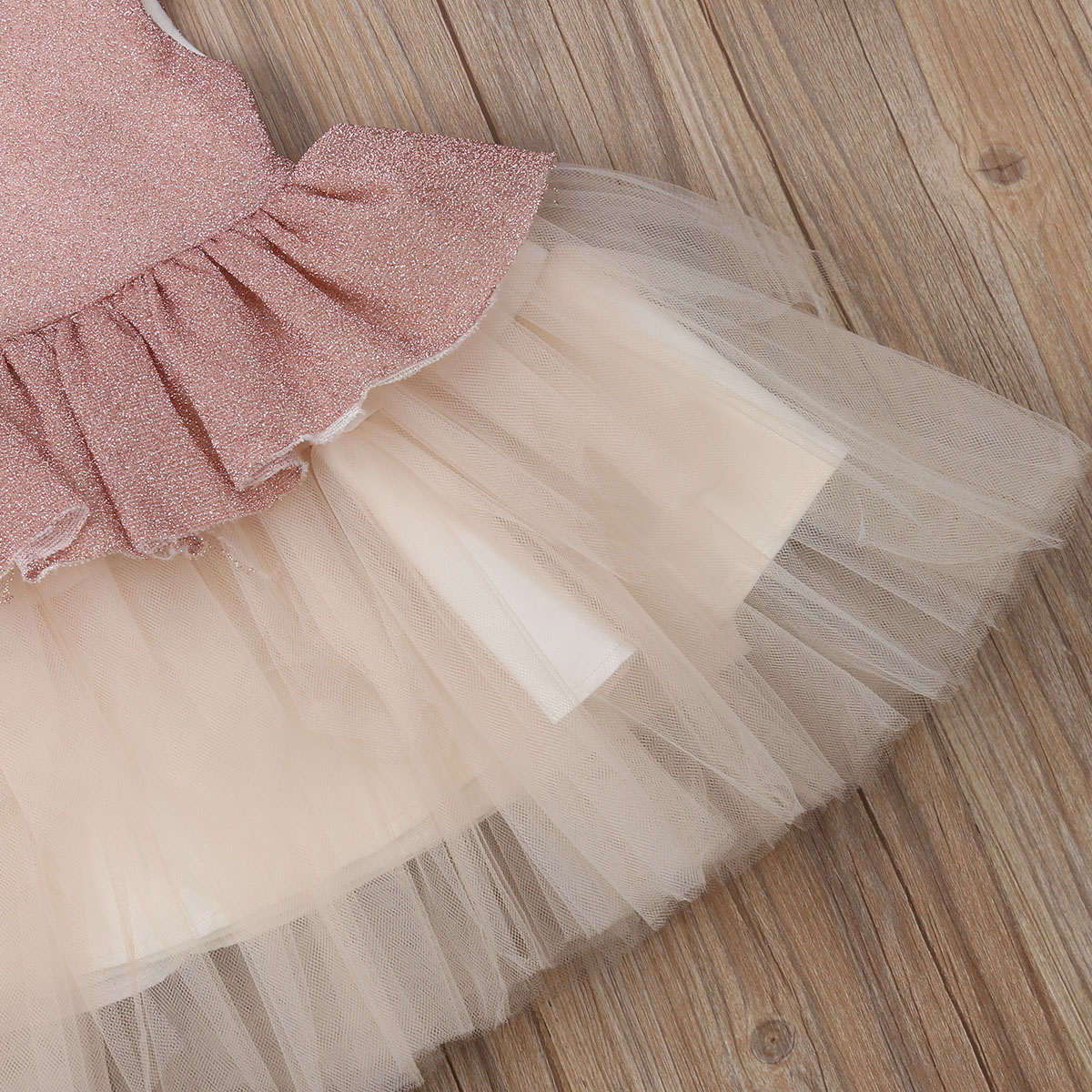 Girls Sparkly Tutu Tulle Dress Handmade  white Princess party summer