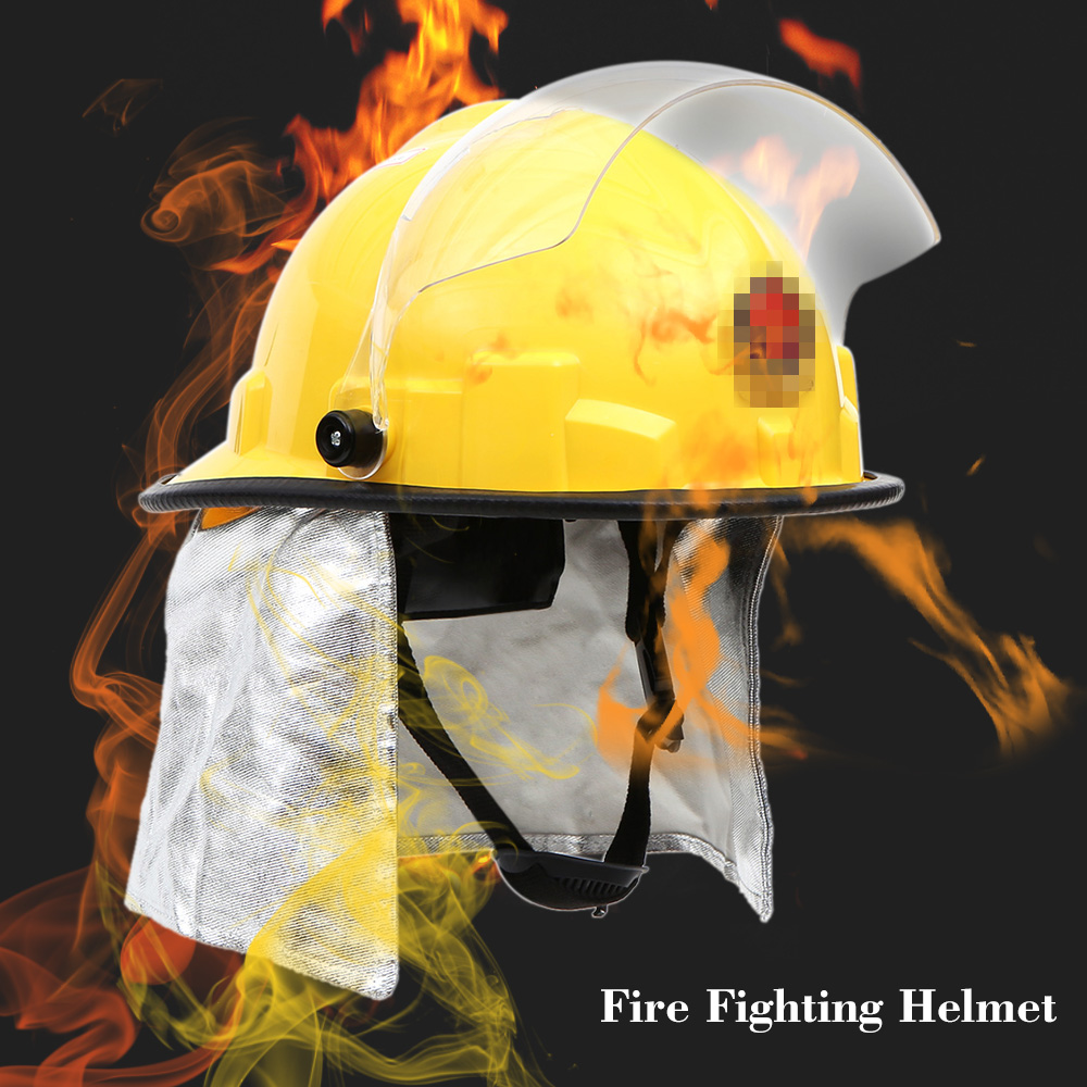 Fire Proof Fireman s Safety Helmet With Goggle Electric Shock Prevention Flame retardant Pierce Resistance Fire