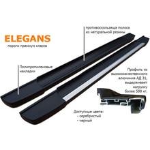 Боковые пороги(подножки) Hyundai Tuscon(-) zaliv ELEGANS-HonTusc15