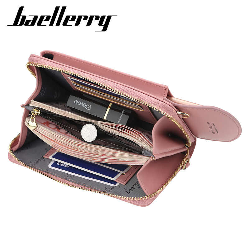 Baellerry 2019 femmes portefeuille marque téléphone portable portefeuille grand porte-cartes portefeuille sac à main sac à main pochette messager bretelles sac