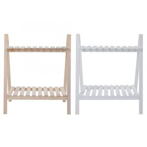 Image 2 - Plant Dual Tier Solid Wood Living Room Flower Pot Book Stand Diaplay Shelf Rack Garden Decoration