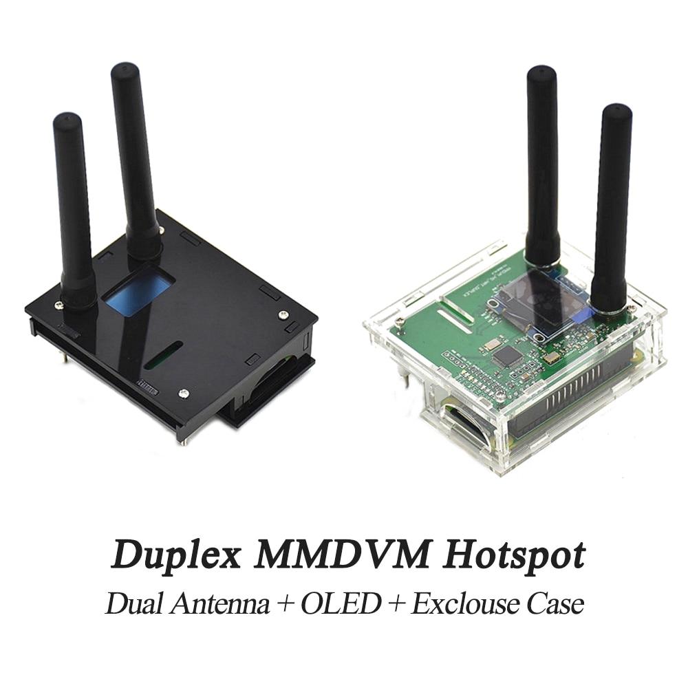 1 pièces bricolage Assemblé Duplex MMDVM Hotspot Soutien P25 DMR YSF + pour Raspberry Pi Zero + 2 pièces Antenne + OLED + Exclouse Cas