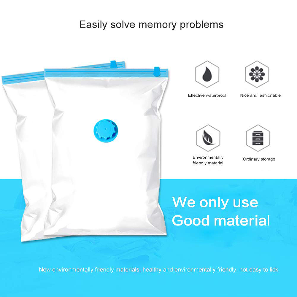 LICG 10 Pcs Vacuum Storage Bags Vacuum Cleaner For Travel With Vacuum Pump Reusable Vacuum Storage Bag For Clothing Duvets in Foldable Storage Bags from Home Garden