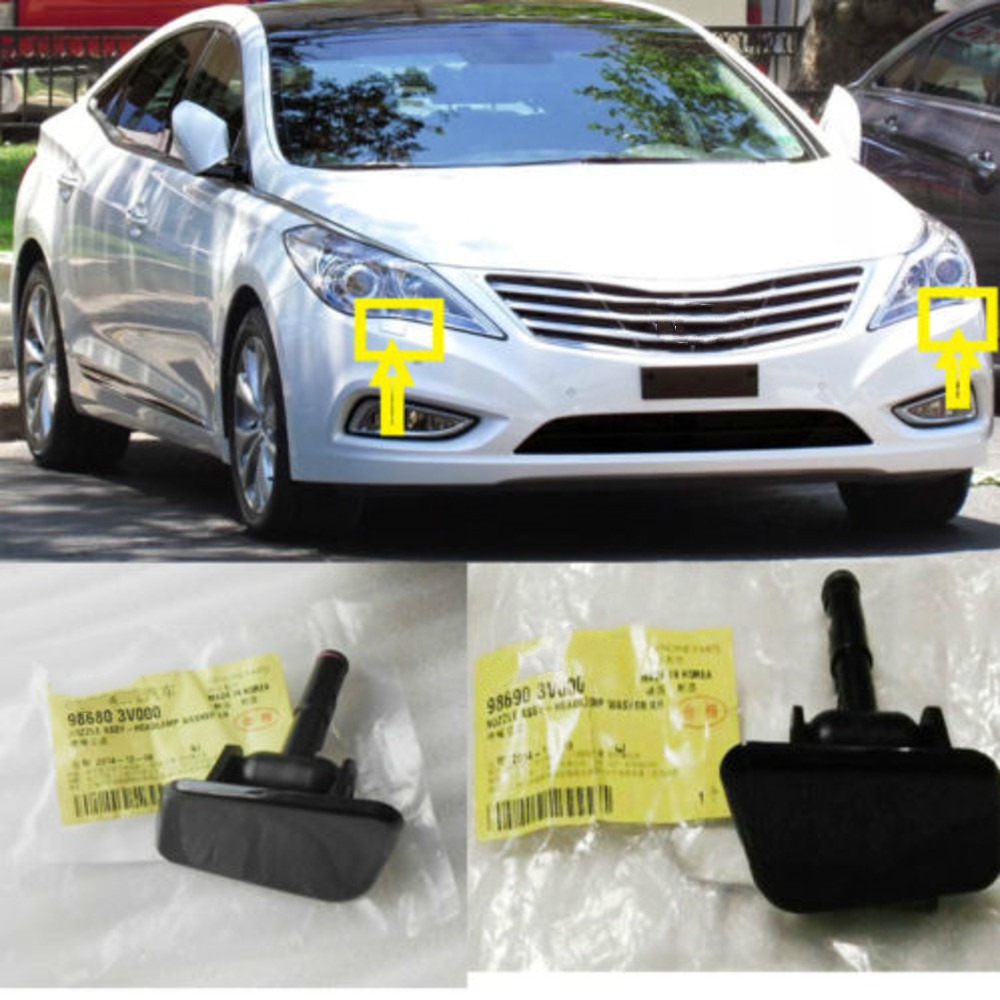 Head Lights Washer Nozzle Cover 2P For Hyundai 11 14 Azera 986803V000 986903V000
