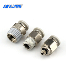 The pneumatic component PC4 6 8 10 12-M5 01 02 03 04 with excellent quality connector  to the air pipe external threads