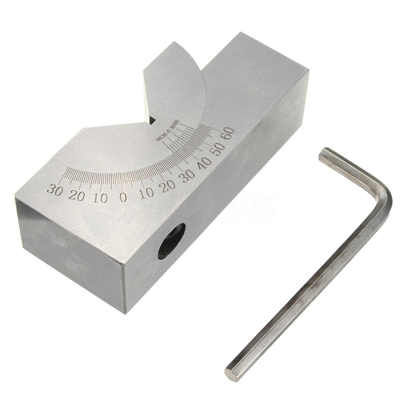 HLZS-75x25x32mm Precision Mini Adjustable Angle V Block Milling 0 Degree To 60 Degree
