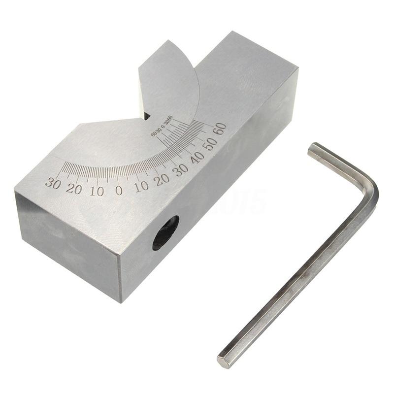 HLZS-75x25x32mm Precision Mini Adjustable Angle V Block Milling 0 Degree To 60 DegreeHLZS-75x25x32mm Precision Mini Adjustable Angle V Block Milling 0 Degree To 60 Degree
