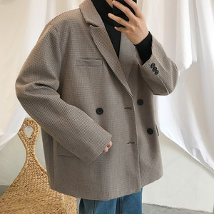 Image 3 - 2019 Spring New Korean Version Of The Campus Wind Long Sleeve Loose Solid Color Casual Blazer Small Fresh Party Tour