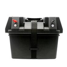 Multifuctional машины 12 V Батарея Box USB автомобилей Зарядное устройство с светодиодный вольтметр Экран для автомобилей Грузовик Лодка Трейлер внедорожник