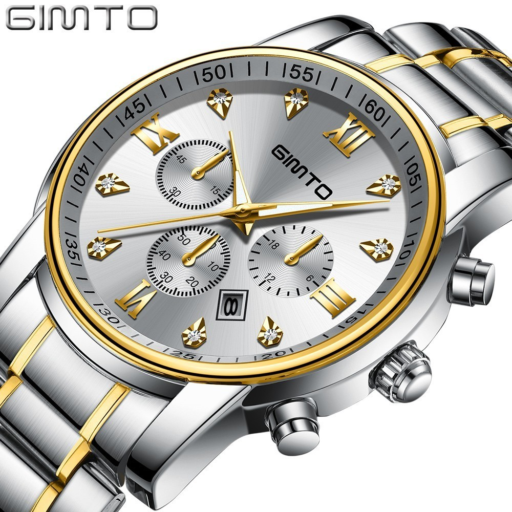 GIMTO 2018 Classic Watch Gold Silver Men Watches 2018 Luxury Brand Business Gift Mens Watches Quartz Wristwach Casual Male WatchGIMTO 2018 Classic Watch Gold Silver Men Watches 2018 Luxury Brand Business Gift Mens Watches Quartz Wristwach Casual Male Watch