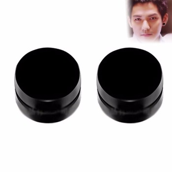 2 Pcs/lot Stud Earrings Magnetic Ear Stud Non Piercing Clip Round Mens Women Fake Earring Fashion Jewelry circle