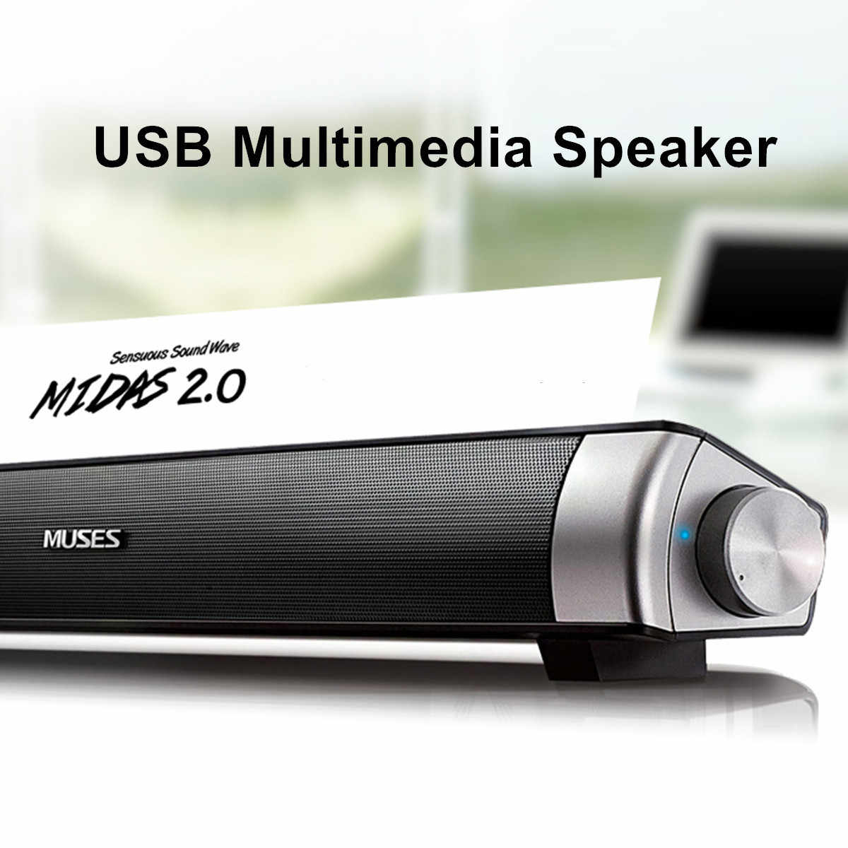 Speaker Kabel Soundbar Speaker HI FI Bass Stereo Suara Bar dengan USB AUX MIC untuk Komputer PC Smartphone TV Home Theater laptop