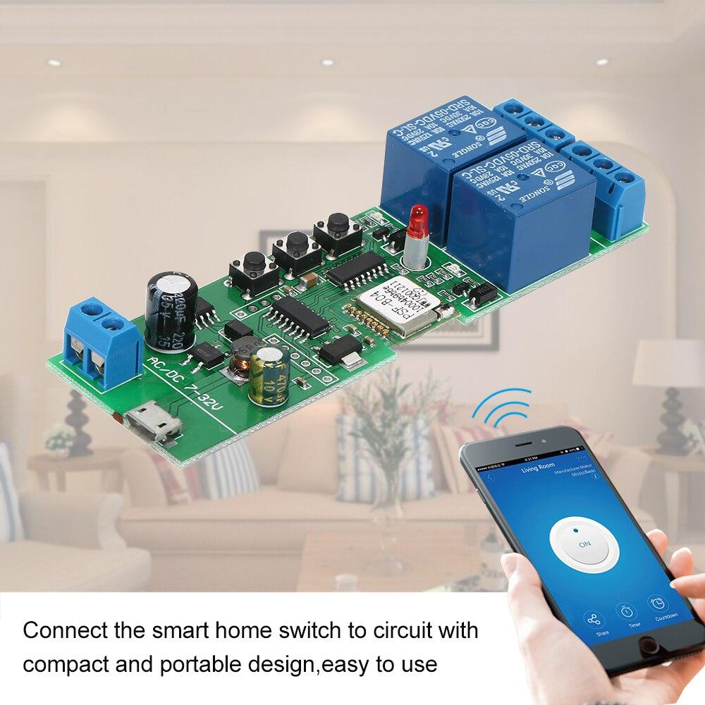 EWeLink Smart Wifi Schalter Universal Modul 2CH USB DC5V/7-32 V Drahtlose Schalter Timer Telefon APP Remote control für Smart Home