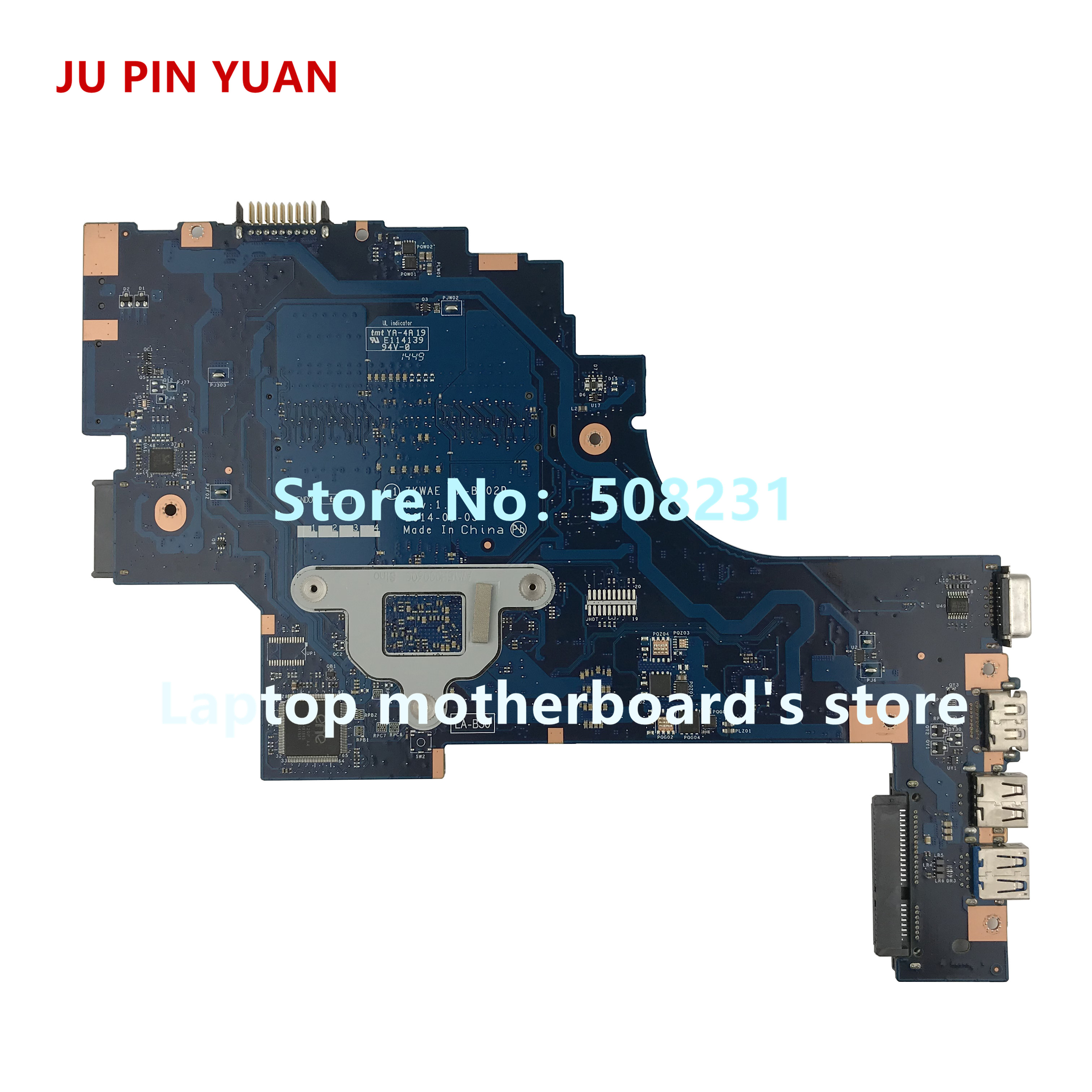 Купить с кэшбэком JU PIN YUAN K000891410 ZKWAE LA-302P for TOSHIBA Satellite C50D C55D C55D-B C55D-B5310 Laptop Motherboard with A8-6410 2.0GHz