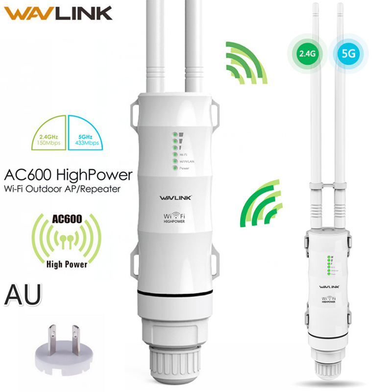 1set 290x125x60mm Wavlink AC600 2 4g 5G High Power Outdooor Waterproof WIFI Router AP Repeater 2