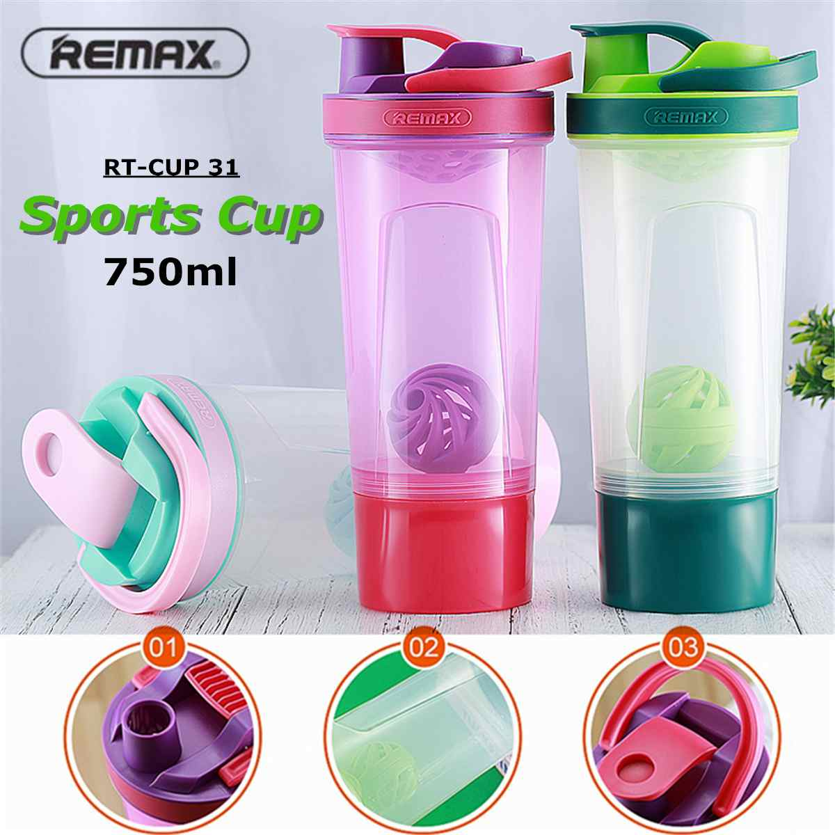 750ML Sport Water Bottle PP Portable Water Bottle Travel Cup For Yoga Running Camping Outdoor Drinkware Bottle Juice Kettle