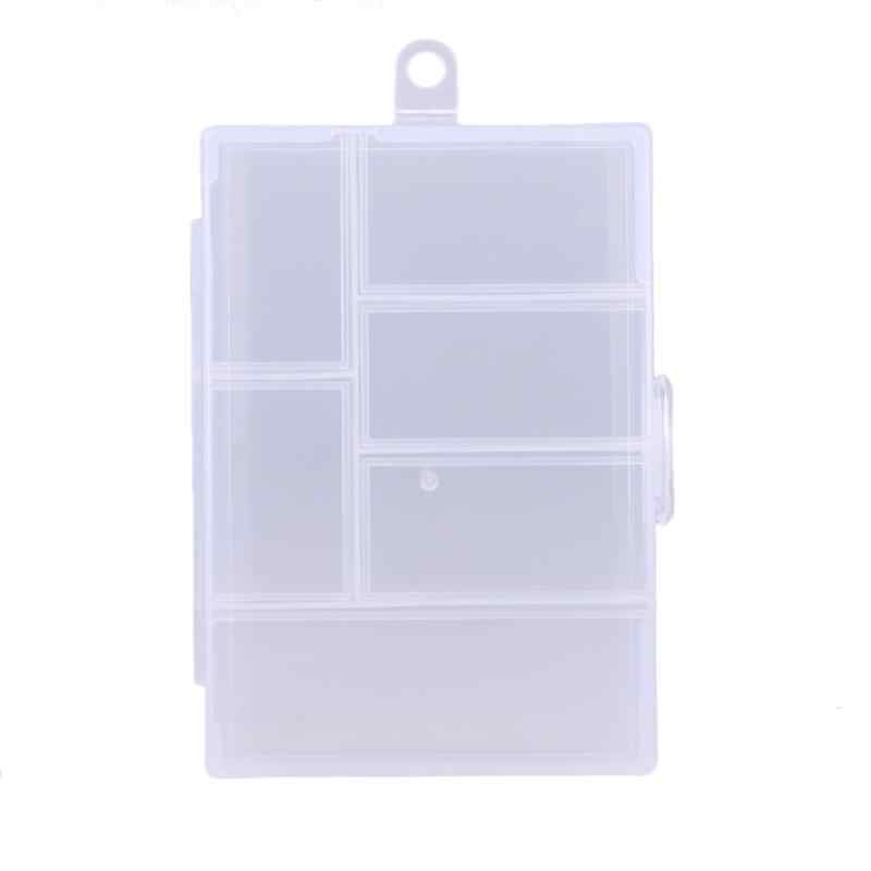 Modern Fixable 6 Compartment fishing box Plastic Storage Box  Rectangle Case Holder Storage Boxes & Bins olta malzemeleri
