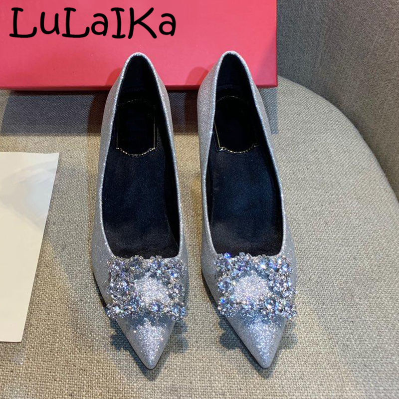 2019 New Classic Brand Woman Pointed Sequined Cloth Shining Pumps Fashion Rhinestone Shoes Elegant Lady Wedding Party High Heels2019 New Classic Brand Woman Pointed Sequined Cloth Shining Pumps Fashion Rhinestone Shoes Elegant Lady Wedding Party High Heels