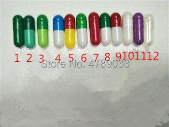 1# 1000pcs/lot Top Quality Colored Hard Gelatin Empty Capsules,Hollow Gelatin Capsules,Closed Capsules фото