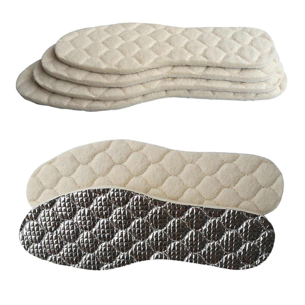 Unisex Sonbahar Kış Insloes Ayaklar Için Kadınlar Ve Erkekler Sıcak ayakkabı pedi Ayakkabı Ekler Termal Alüminyum Folyo/Keçe Solette Için kar botu