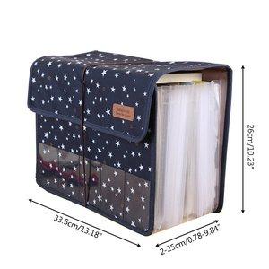 Image 2 - Cute Portable Expandable Accordion 12 Pockets A4 File Folder Oxford Expanding Document Briefcase