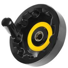 Рукоятка маховика черный Пластик маховик складные Вращающаяся ручка 16*160 для детали токарного станка токарный маховик