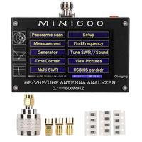 Антенна ТВ цифровая мини 4,3 дюймов сенсорный ЖК экран 0,1 600 МГц HF/VHF/UHF ANT КСВ Антенный Анализатор метр телескопическая антенна