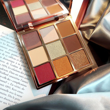 Professional Makeup 9 Color Eye Shadow Palette Shimmer Matte Earth Tone Flash Shiny Smoked Pigment Cosmetics