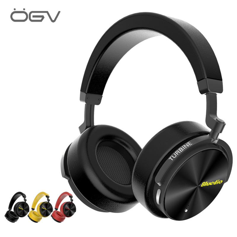 Casque stéréo Bluetooth T5 Hifi actif anti-bruit casque sans fil Bluetooth sur l'oreille avec Microphone pour la musique des téléphones