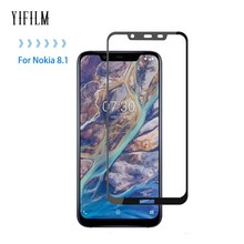 0.3MM 2.5D Full Screen 9H Tempered Glass For Nokia 8.1 Full