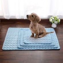 Summer Cooling Mats Blanket Ice Pet Dog Bed Sofa Portable Tour Camping Yoga Sleeping Mats For Dogs Cats Pet Accessories summer dog cooling mats cat blanket ice pet dog bed mats for dogs cats sofa portable tour camping yoga sleeping pet accessories