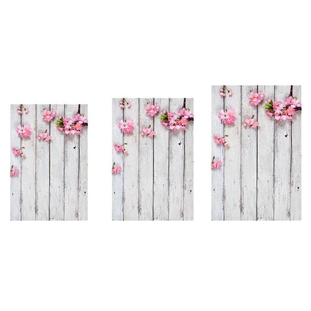 Hot Sale Photography Background Wooden Board Planks Texture Studio Video Photo Backdrop Cloth Phone Photographic Props for Food