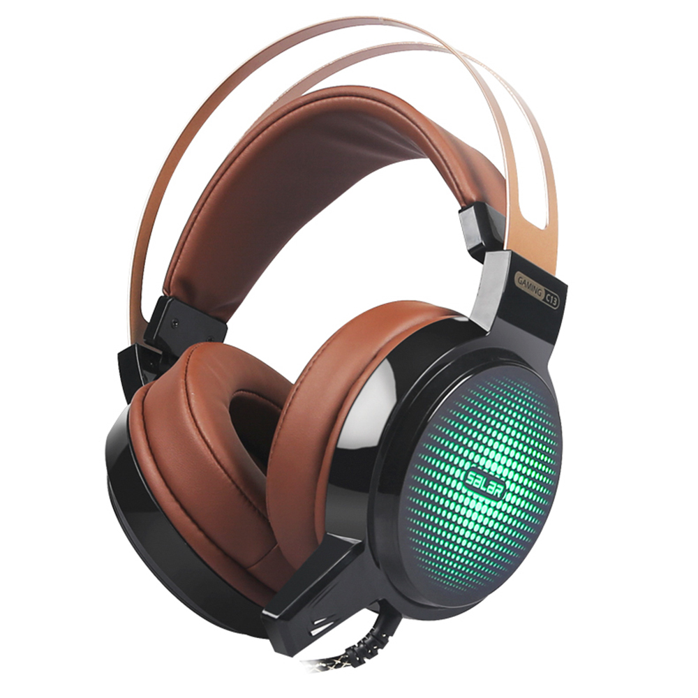 Professional Game Headphone 3.5mm Stereo Headset Earphones USB Wired With Micr RGB Breathing LED Lights For PS3 PS4 PC Laptop