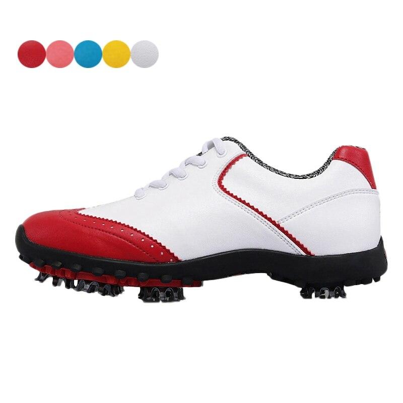 2018 zapatos de Golf mujer impermeable zapatos de Golf para niñas transpirable dama zapatillas de deporte de la luz Ultra-absorción de choque deportes zapatillas de deporte
