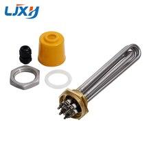 """LJXH 220 V/380 V Immersion Wasser Heizung Rohr DN32 Heizung Element 1,2 """"42mm Kupfer Gewinde 304 edelstahl Rohr mit Mutter"""