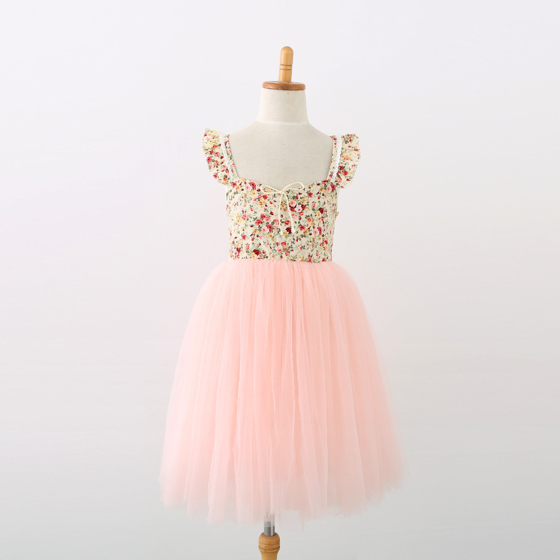 New Ins European and American Children's Princess Dress Girls' Performance Wedding Dress Girls Fashion Tutu Dresses ankle length-in Dresses from Mother & Kids    1