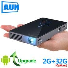 AUN projecteur intelligent D5S, Android 7.1 (En Option 2G + 32G) WIFI, Bluetooth, Batterie, HDMI, mini projecteur portable, 3D Beamer