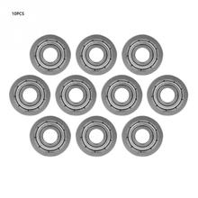 10Pcs/set F696ZZ Flanged Ball Bearings Double-shielded Steel Bearing Miniature ball bearings 6x15x5mm High Quality free shipping 1pcs s6926 2rs stainless steel shielded miniature ball bearings size 130 180 24mm