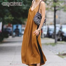 CHICEVER Sexy Off Shoulder Trousers For Women Jumpsuits Pant Loose Spaghetti Strap Long Wide Leg Pants
