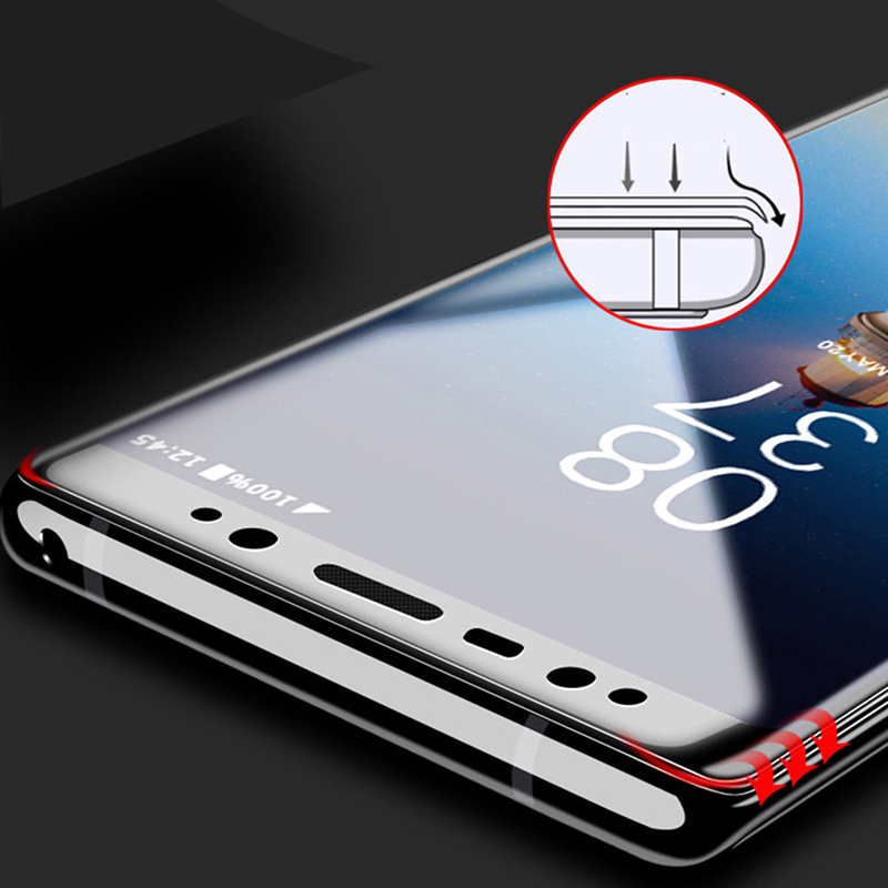 9H Hardness thickness Scratch-Proof Protective Film For Samsung Galaxy Note 9 Curved Full Cover Tempered Glass Screen Protector