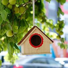 Creative Wooden Birdhouses Nest For Dove Finch Wren Sparrow Small Animal Hummingbird High Quality 2019 New