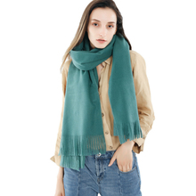 2018 European Wind Fashion Joker Autumn And Winter Best Sellers New Pattern Solid Color Long Tassels Imitate Scarf Shawl