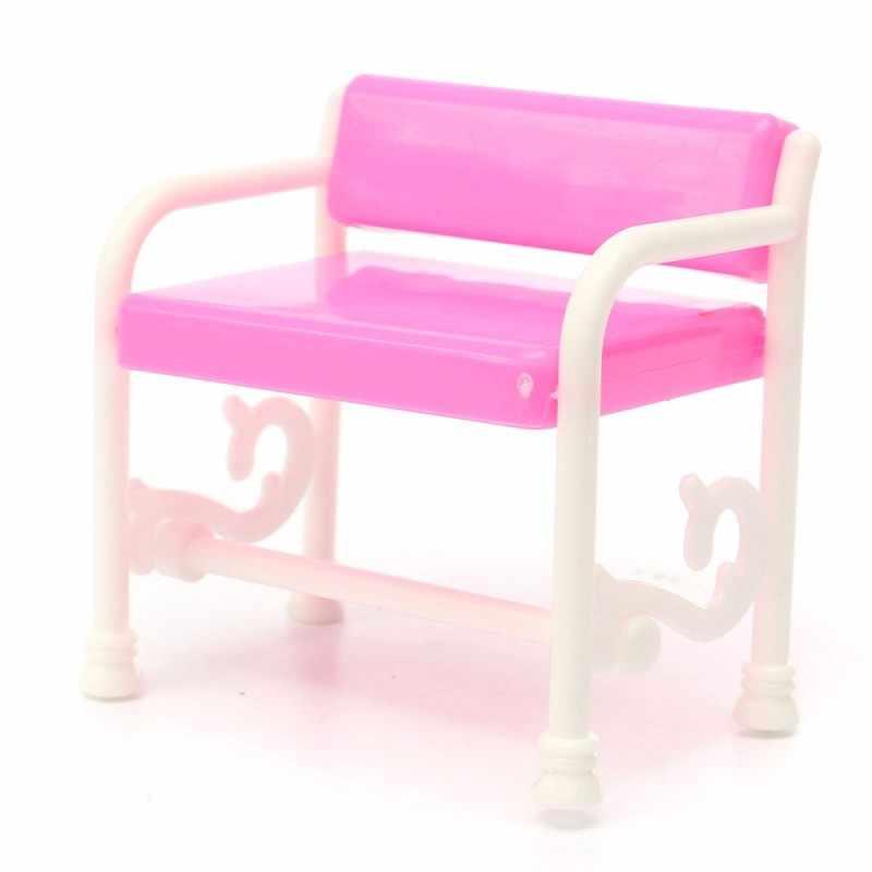 Прекрасный набор туалетный столик стул для Барби кукольный домик мебель для спальни игрушки набор девочка детский игровой дом