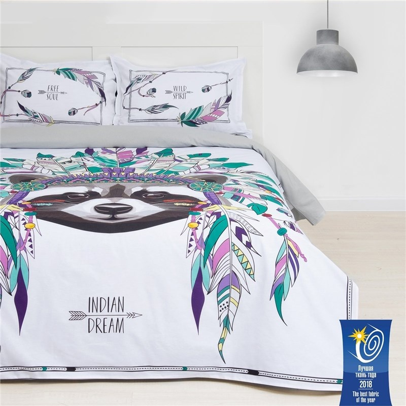 Bed Linen Ethel Euro Indian style 200х217 cm, 220х240 cm, 50х70 + 3 cm-2 pcs, ранфорс 111g/m2 bed linen ethel 1 5 cn love 143х215 cm 150х214 cm 50х70 3 2 pcs ранфорс 111g m2