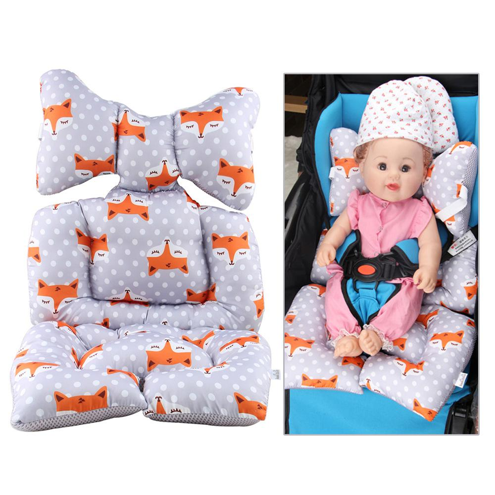 Dropshipping Bean Bag Baby Chair Car Seat Insert Reversable Head Pillow Strollers Pad Carseat Neck Support Kids Sofa Cushion