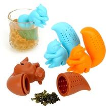 Squirrel Shape Silicone Tea Strainer Tea Accessories Empty T